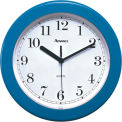 "Advance 8"" Plastic Wall Clock - Blue"