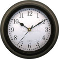 "Advance 9"" Plastic Wall Clock - Black"