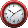 "Advance 9"" Plastic Wall Clock - Red"