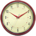 "Geneva 9.5"" Plastic Wall Clock - Red"