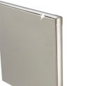 "Stainless Steel Partition Panel - 54-3/4"" W x 58"" H"