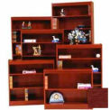 "Excalibur Bookcase 48"" H, Medium Cherry"