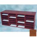 24 Compartment Literature Organizer - Medium Oak Laminate