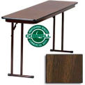 "Training-Seminar Table, Off-Set Folding Leg, 18""x 72"", Walnut Top"