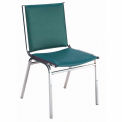 "Durable Multi-Purpose Armless Stack Chair - 2"" thick Seat Forest Vinyl"