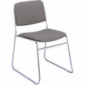 Sled Base Armless Stack Chair - Gray Fabric