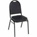 Heavy Duty Banquet Stacking Chair - Black Vinyl /Black Frame