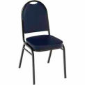 Heavy Duty Banquet Stacking Chair - Navy Vinyl /Black Frame