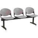Beam Seating - 3 Cool Gray Seats