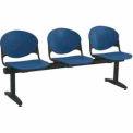 KFI Beam Seating - 3 Navy Seats