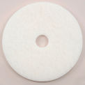 "17"" White Polishing Pad - 5 Per Case"