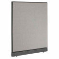 "48"" W x 46"" H Office Partition With Raceway - Gray"