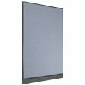 "48"" W x 64"" H Office Partition With Raceway - Blue"