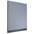 "60"" W x 64"" H Office Partition With Raceway - Blue"