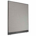 "Office Partition Panel with Raceway, 60-1/4""W x 64""H, Gray"