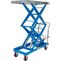 Pneumatic-Hydraulic Mobile Scissor Lift Table 1500 Lb. Capacity