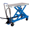 Pneumatic-Hydraulic Mobile Scissor Lift Table 2000 Lb. Capacity