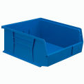 Global Plastic Stacking Bin 11x10-7/8x5 - Blue - Pkg Qty 6