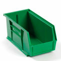Global Plastic Stacking Bin 5-1/2x10-7/8x5 - Green - Pkg Qty 12