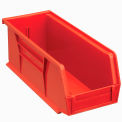 Global Plastic Stacking Bin 4-1/8x10-7/8x4 - Red - Pkg Qty 12