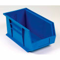 Global Plastic Stacking Bin 5-1/2x14-3/4x5 - Blue - Pkg Qty 12