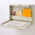 Wall Mounted Locking Writing Desk