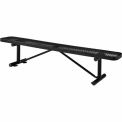 "96"" Metal Mesh Flat Bench Black"