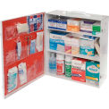 Global First Aid Kit -3 Shelf Cabinet, ANSI Complaint, 75-100 Persons