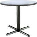 "KFI 36"" Round Restaurant Table - Laminate - Gray Nebula"