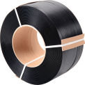 "Polypropylene Strapping 1/2"" x .030"" x 6,000' Black  8"" x 8"" Core"
