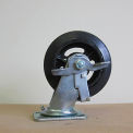 "8"" Mold-on Rubber Swivel Caster with Brake for Little Giant Carts"