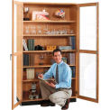 Wood Clear Door Storage Cabinet 36x16x84
