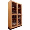 Wood Clear Door Storage Cabinet 48x22x84