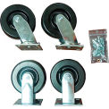 "Durham Mfg® 6"" x 2"" Phenolic Caster Kit HC-6PH-R/S, 2 Rigid, 2 Swivel"