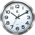 "10"" Brushed Metal Wall Clock"