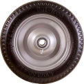 "4.10/3.50-4 Flat Free, Sawtooth Tread, 2.25"" Offset, 5/8"" Ball Bearings"