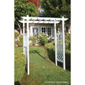 Outdoor Vinyl Capistrano Grand Lattice Arbor, White