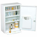 "Global Medicine Cabinet With Pull Out Shelf 18""W X 8""D X 27""H, White"