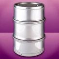 Skolnik SL5501DF Closed Head Stainless Steel Seamless 55 Gallon Drum