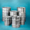 Skolnik ST5502 Open Head Stainless Steel 55 Gallon Drum with Lid