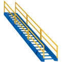 "Modular Steel Staircase 122"" to 144"" Height Range"