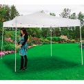 "Portable Straight Leg Pop Up Canopy, 10'L X 10'W X 10' 1""H, White"