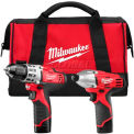 Milwaukee® 2494-22 M12™ Cordless Lithium-Ion 2-Tool Combo Kit