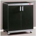 """Rubbermaid 5M13 FastTrack Garage Base Cabinet, 29-7/8""""W x 19-3/8""""D x 34""""H, Satin Nickel"""