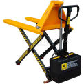 "Wesco Telescoping Electric High Lift Pallet Truck 3000 Lbs. 21"" Forks"