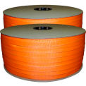 "Woven Polyester Strapping 3/4"" x .050"" x 1650' Orange - Pkg Qty 2"