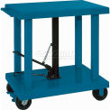 Wesco Work Positioning Post Lift Table Foot Control 48x32 2000 Lb. Cap.