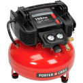 Porter Cable® C2002-WK, 0.8 HP, Hand Carry, 6 Gallon, Pancake, 150 PSI, 2.6 CFM, 1-Phase 120V