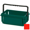 "Plastic Shopping Basket with Plastic Handle, Mini, 12""L X 8""W X 5""H, Red, Good L Corp. ® - Pkg Qty 12"