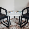 "Corner Coffee Table 30"" x 30"" Gray Top"